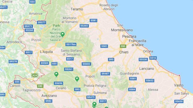 Motorrad Reiseplanung - Abruzzen Google Maps