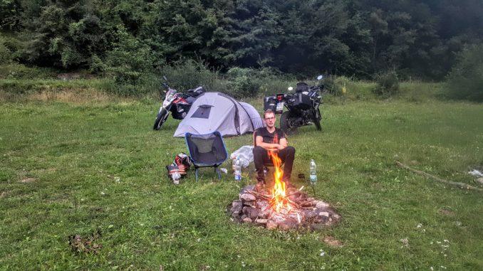 Wildcamping Rumänien Motorrad