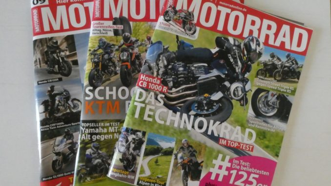 Motorrad Zeitschrift Abonnieren