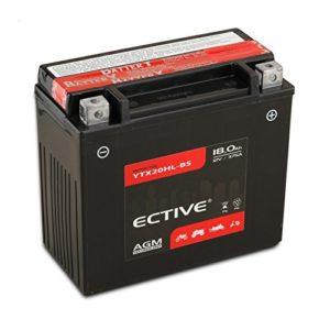 Ective 12V 18Ah Motorradbatterie Säure
