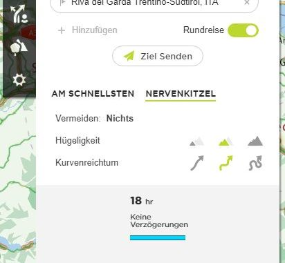 TomTom MyDrive Connect Test - Route planen