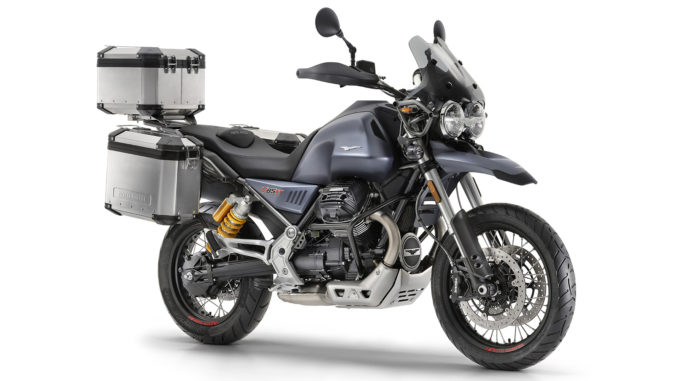 Moto Guzzi V85 TT mit Koffer