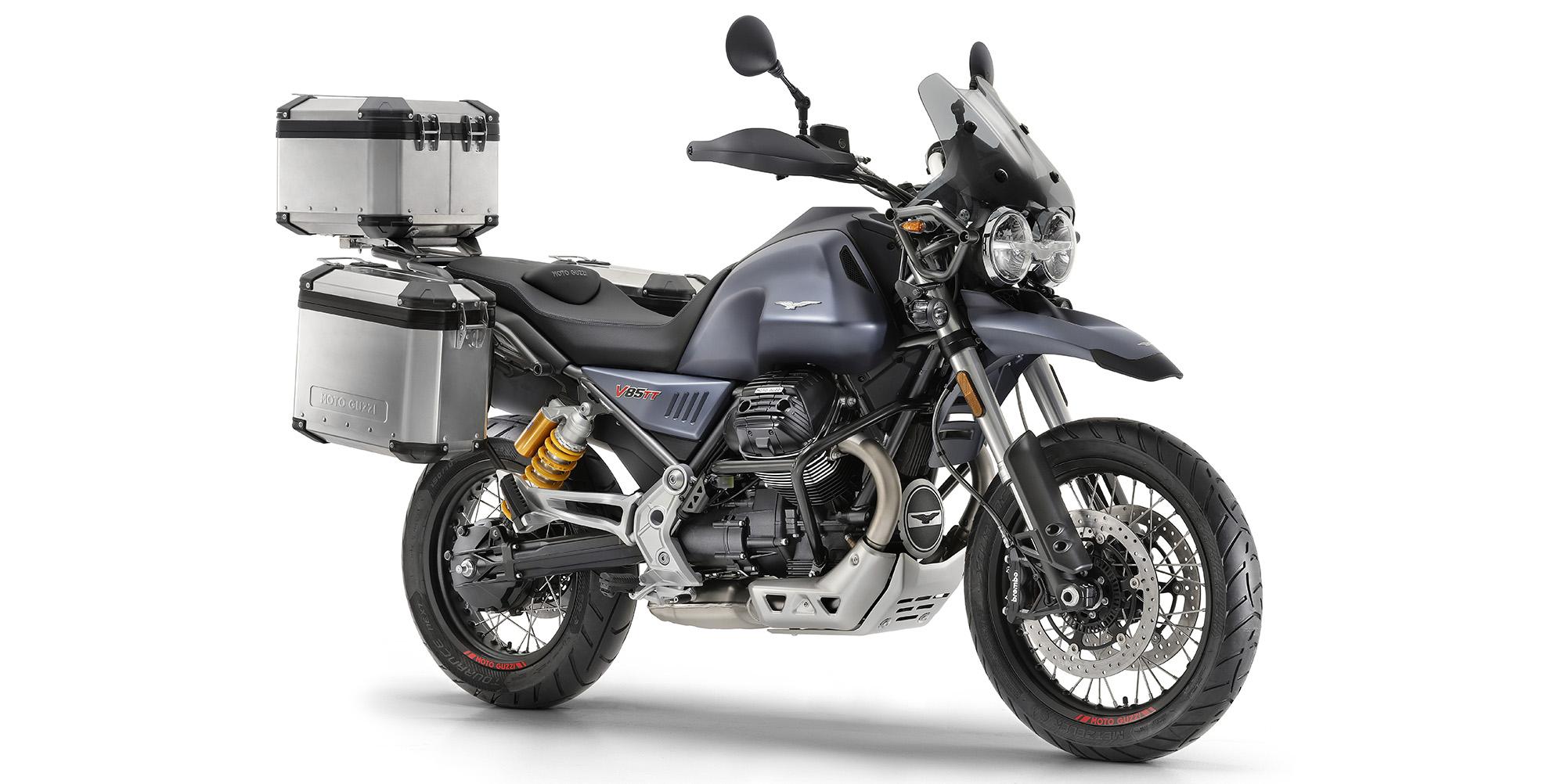 Moto Guzzi mit Koffer