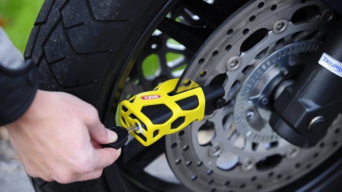Motorradschloss Test