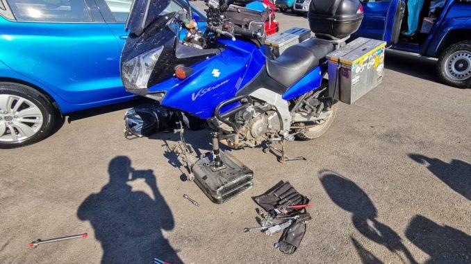 Motorrad-Reparatur-Gebael-Island