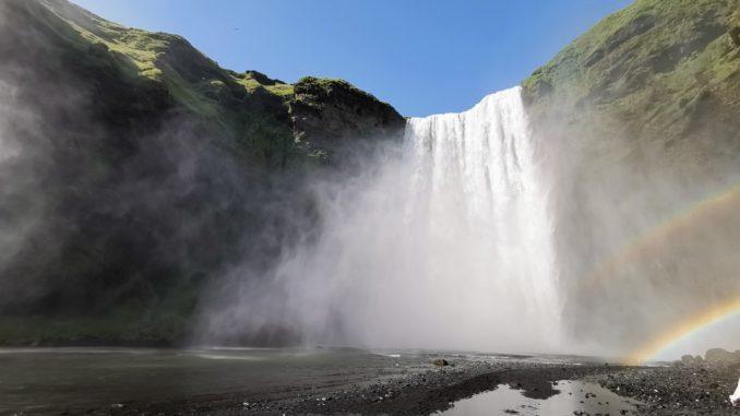 Skogarfoss-Wasserfall