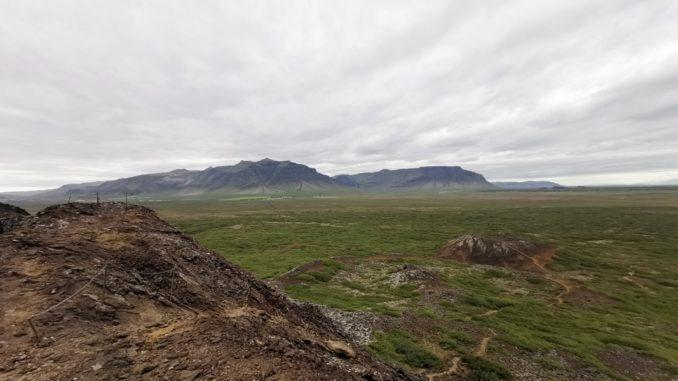 Vulkankrater-Island-Wandern